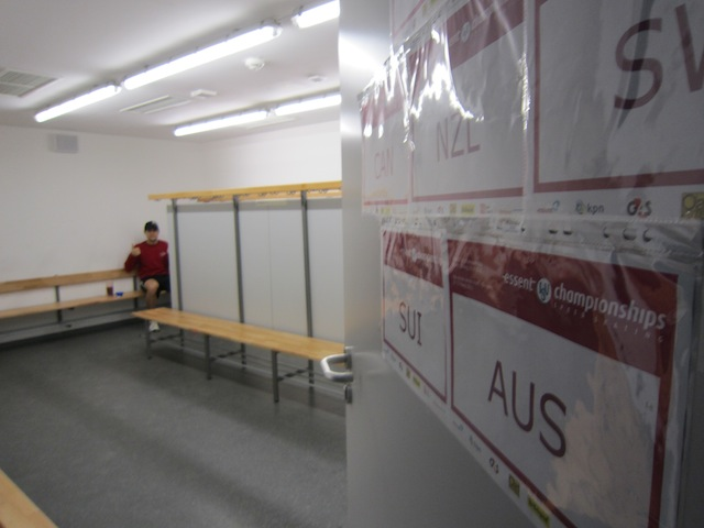 Lucas Locker Room Ivanie Blondin Inzell Germany 2011 World Single Distance Championships.JPG