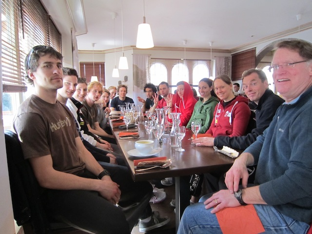 Team Meal Canada Ivanie Blondin Inzell Germany 2011 World Single Distance Championships.JPG