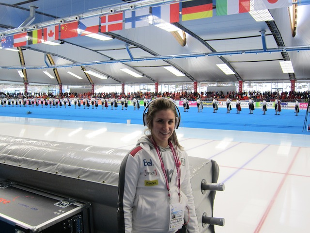 Rinkside Ivanie Blondin Inzell Germany 2011 World Single Distance Championships.JPG