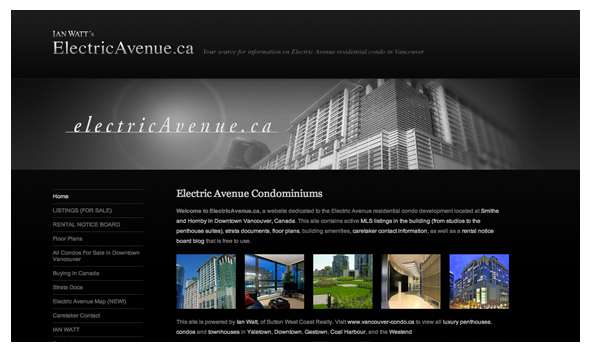 Ian Watt Electric Avenue Web Marketing Vancouver Condos
