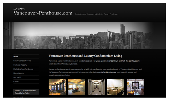 Ian Watt Web Marketing Vancouver Penthouse