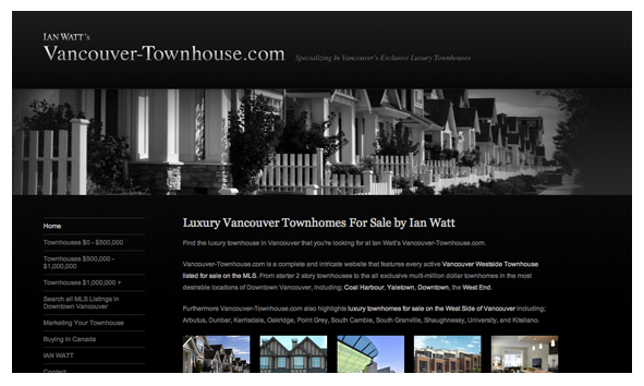 Ian Watt Web Marketing Vancouver Townhouses