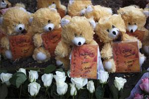 Newtown teddy bears for the fallen