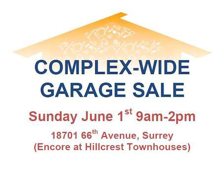 Encore garage sale