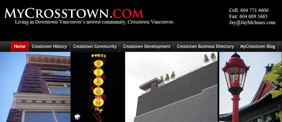 (MyCrosstown.com) Home Page Banner - By Jay McInnes