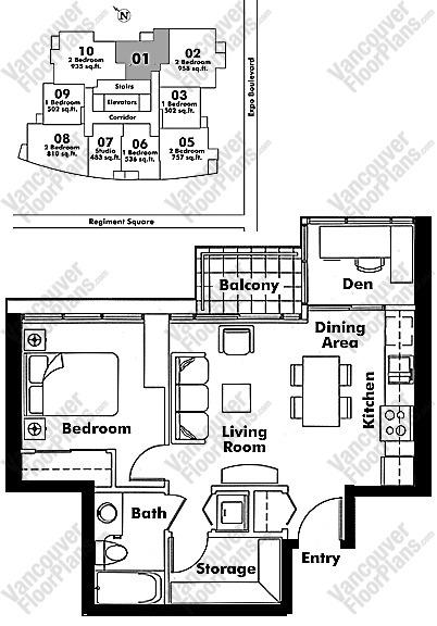 2001 - 131 Regiment Sq Floor Plan