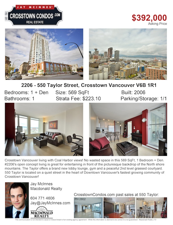 2206-550 Taylor St (New Listing Flyer) LOW REZ