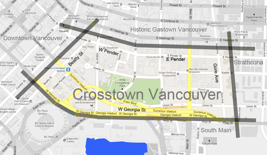 Crosstown Vancouver Map (CrosstownCondos.com)