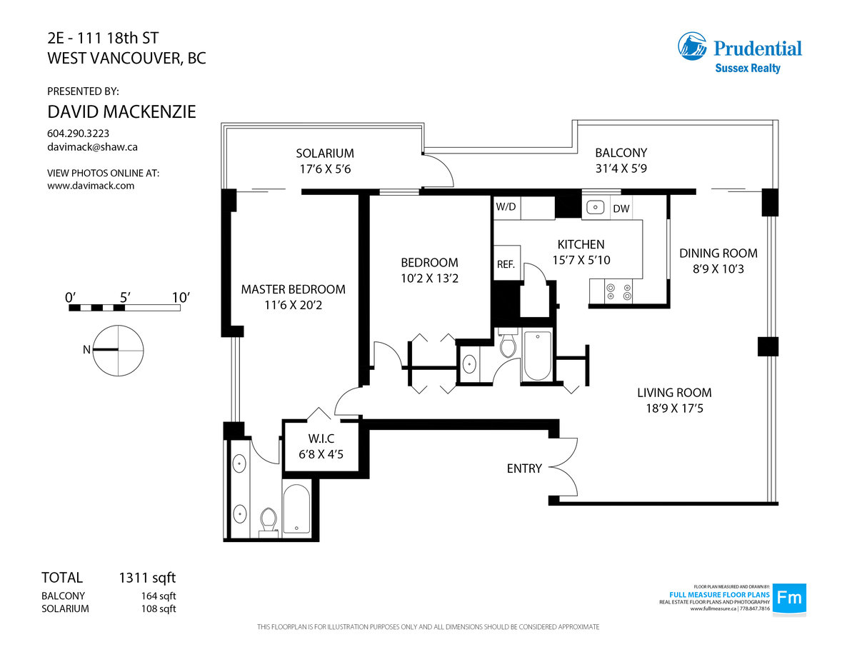2E 111 18th Street West Vancouver Floorplan