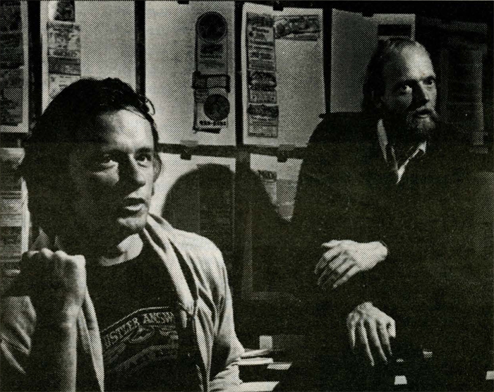 Whistler Answer founder Charlie Doyle, on left, and Michael LeiErier at an editorial meeting, circa 1979.