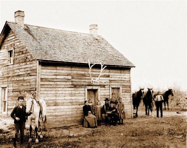 Boyce first Manitoba home, abt 1892