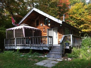 Cottage for sale on Neighhick Lake:  2 bedroom 500 sq.ft. on Ahmic Lake / Lake Cecebe Waterway