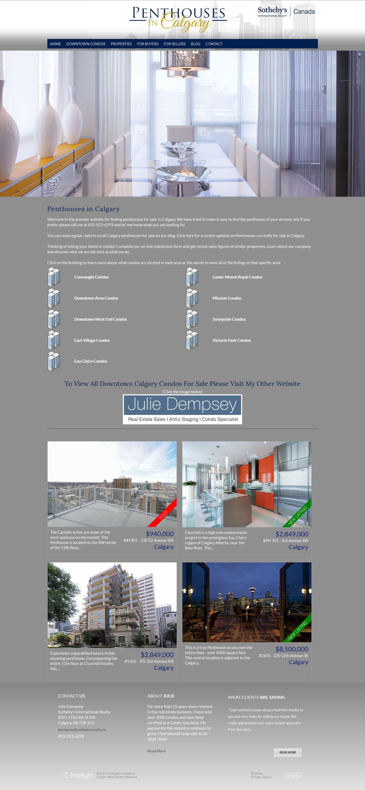 Penthousesincalgary Specialty Website