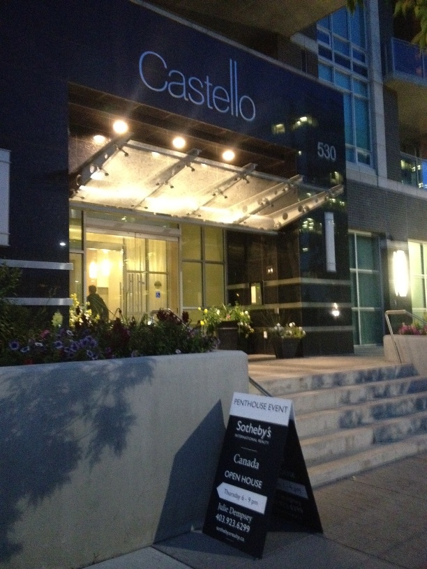 Castello Front Entrance Party Signage