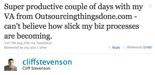 Cliff Stevenson Realtor Testimonial