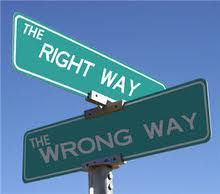 Right way-Wrong way