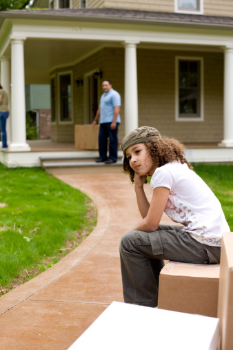 Moving house can be stressful for your kids