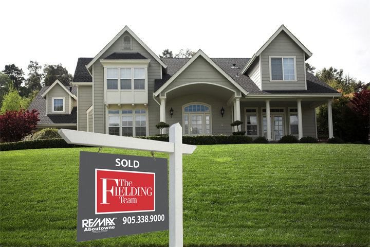 Fielding Team House With Sold Sign