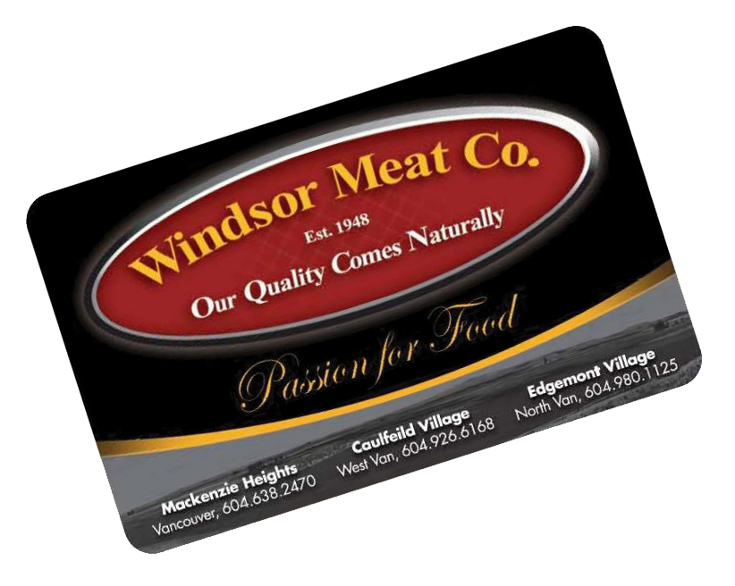 Windsor Meats Loyalty and Gift Card